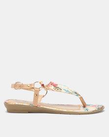 Butterfly Feet Imaan Sandals Beige Floral