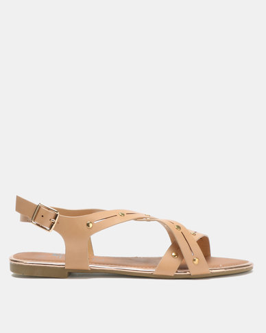 Butterfly Feet Radiya Sandals Nude