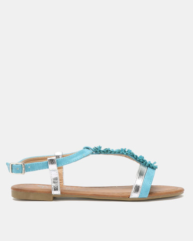 Butterfly Feet Farial Sandals Teal