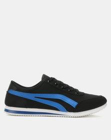 Soviet Kendrick PU Low Cut Sneakers Black/Royal