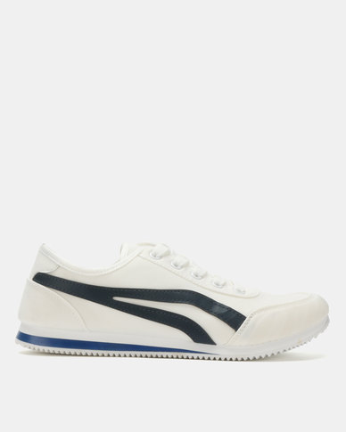 Soviet Kendrick PU Low Cut Sneakers White/Navy