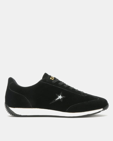 Soviet Campbell Suede Low Cut Lace Ups Black