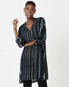 UB Creative Long Tunic Dress Black