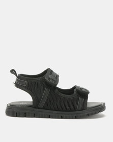 Rock & Co Shanyu Velcro Sandals Black