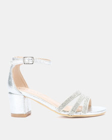 Rock & Co Medina Party Heels Silver