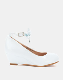 Rock & Co Dilana Patent Wedges White