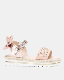Rock & Co Faline Diamante Snake Sandals Pink