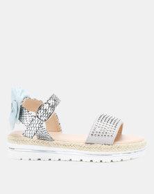 Rock & Co Faline Diamante Snake Sandals Grey