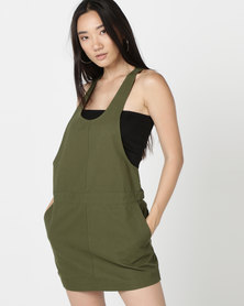 Hurley Modernist Jumper Dress Olive Canvas