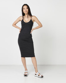 Hurley Reversible Fitted Dress Black