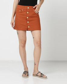 Hurley Wilson Skirt Dark Russet