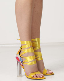 Dolce Vita Paris Clear Heels Ankle Strap Yellow