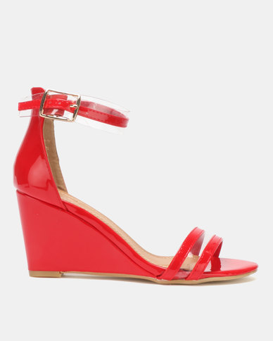Dolce Vita Marilyn Multi Strap Wedges Red