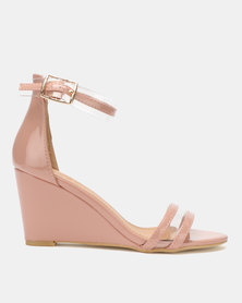 Dolce Vita Marilyn Multi Strap Wedges Pink