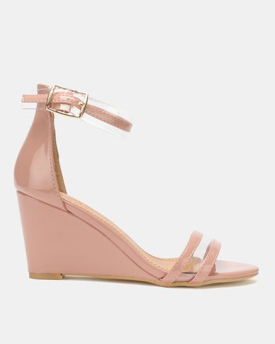 Dolce Vita Marilyn Multi Strap Wedges Pink