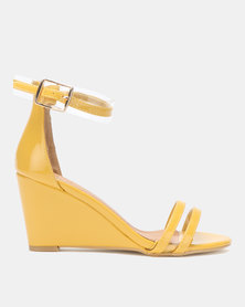 Dolce Vita Marilyn Multi Strap Wedges Yellow