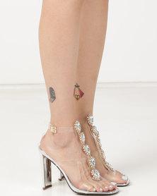 Dolce Vita Cinderella Embellished Heels Silver