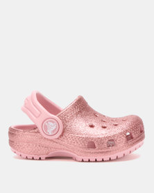 Crocs Classic Glitter Clog Kids Blsm Pink f8513b63593