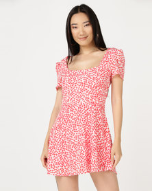 I Am Woman Ellen Floral Dress Red
