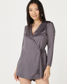 I Am Woman Frankie Playsuit Grey