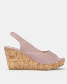 Solle Sling Back Wedges Lilac