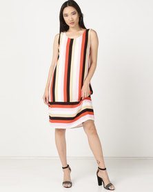 cath.nic By Queenspark Striped Pop Over Woven Dress Multi