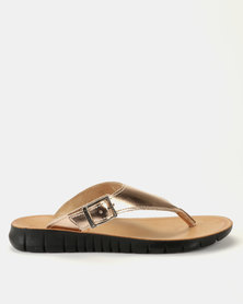 Angelsoft Kim Leather Sandals Rose Gold