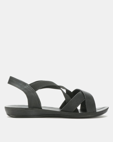Candy Multi Strap Sandals Black