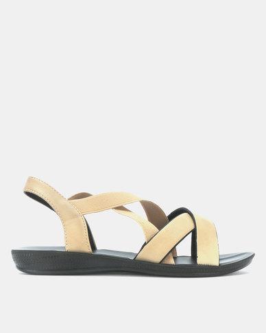 Candy Multi Strap Sandals Beige