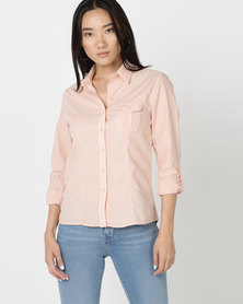 Hi-Tec Ladies Journey Utility Shirt Pink