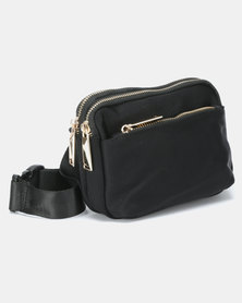 Blackchilli Gold Zip Moonbag Black