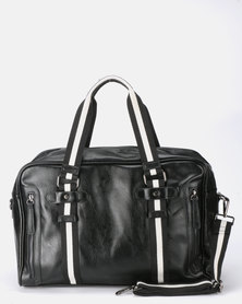Blackchilli Faux Leather Bag With Cross Body Strap Black