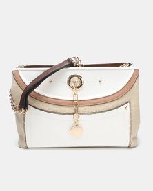 Queenspark Curved Front Colour Blocked Bag Multi