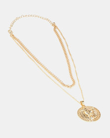 Miss Maxi Donatella Chainlink Necklace Gold-tone