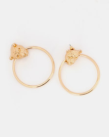Miss Maxi Panther Earrings Gold