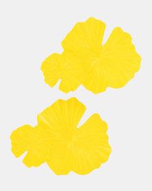 Miss Maxi Leaf Drop Earrings Butter Yellow