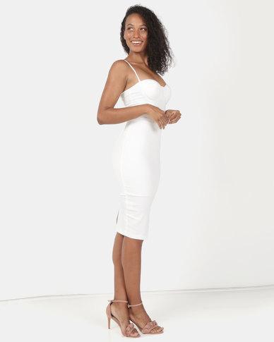 Sissy Boy Midi Dress Off White