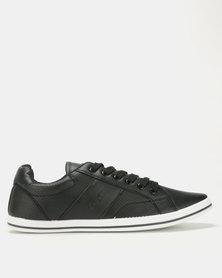 Soviet Ravenswood PU Low Cut Sneakers Black