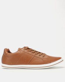 Soviet Ravenswood PU Low Cut Sneakers Tan