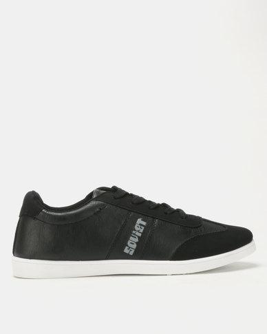 Soviet Hamilton Men's PU Low Cut Sneakers Black