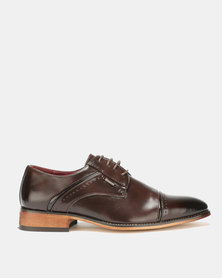 Anton Fabi Carzola Formal Lace Ups Burgundy