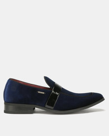 Anton Fabi Cayo Formal Slip Ons Navy/Black