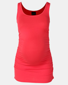 Cherry Melon Tank Top With Side Detail Burnt Horizon