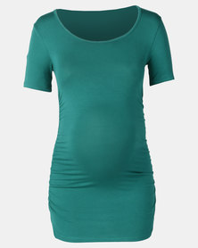 Cherry Melon Round Neck Top Jungle Green