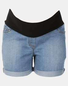 Cherry Melon Denim Summer Shorts Indigo