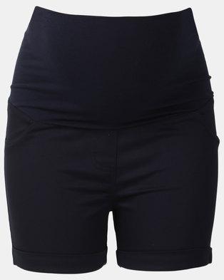 Cherry Melon Sateen Shorts Navy