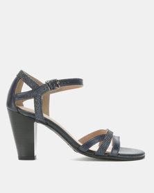 Froggie Mae Block Heel Sandals Navy/Cricket/Pearl