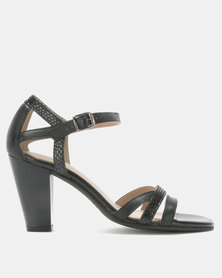 Froggie Mae Block Heel Sandals Black/Iguana