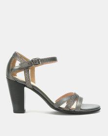 Froggie Mae Block Heel Sandals Pewter/Cricket