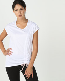 MOVEPRETTY The Ruche Tee White